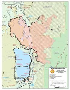 Thielsen Fire Map for 9/29/2020