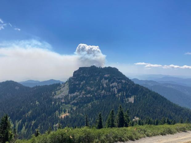 Rough Patch Fire near the Jack Fire