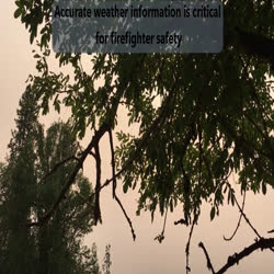 Remote Automated Weather Station (RAWS) on fire