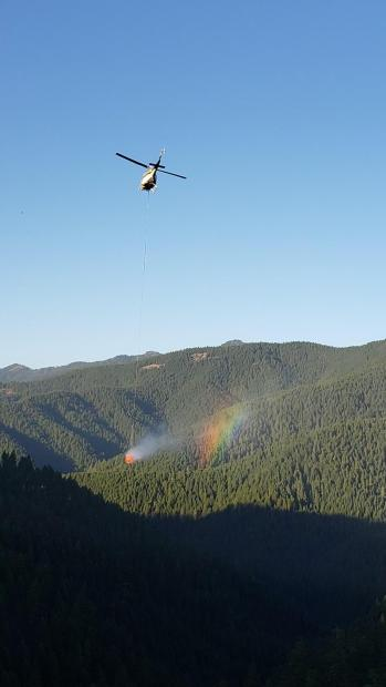 Bell 205 Helicopter working on the Chaos Fire