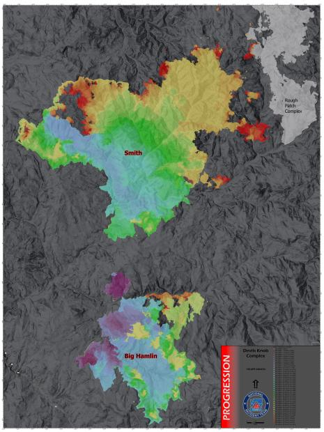 Fire progression map as of 9/19