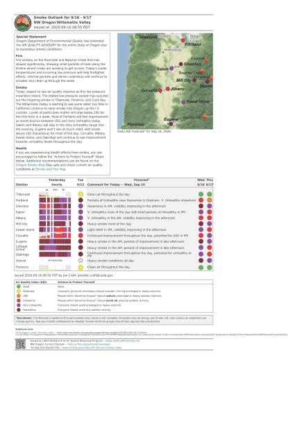 NW Oregon Smoke Outlook Sept 16-17