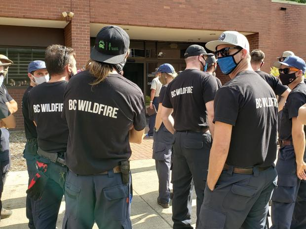 Wildland Firefighters from Canada arrive at the Beachie Creek Fire in Oregon