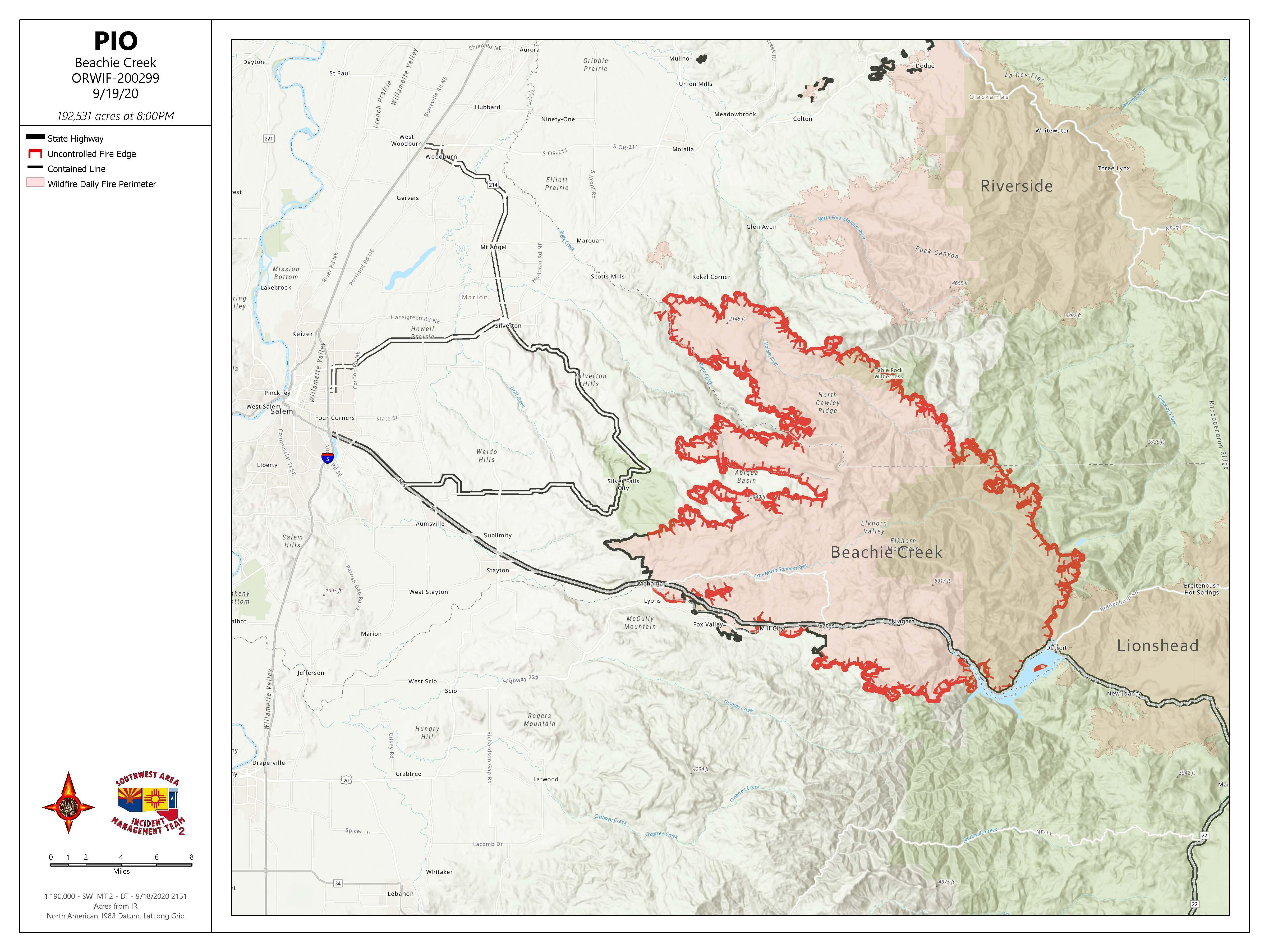 Aerial Image of Beachy Creek Fire area