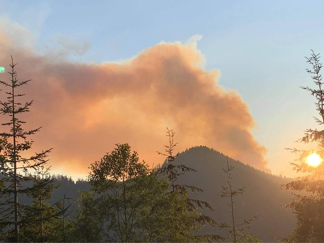 A photo of the Bruler Fire on July 12, 2021 in the evening