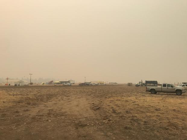 Photo taken Sept. 17 of Fire Camp