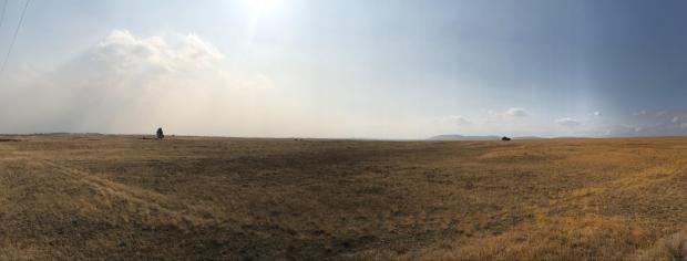 Sky is half clear and half smokey on Sept. 19