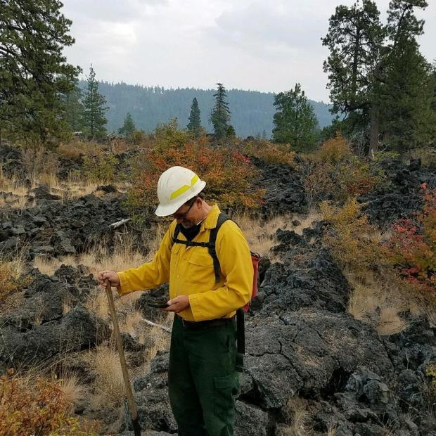 READ (Resource Advisor) helps avoid natural and cultural resources before building dozer lines. READ is at the Lava Fields in Division N.