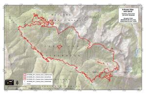The fire has spread just over half a percent  of the total fire footprint since Aug. 28.