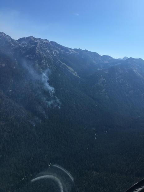 South side of Granite Gulch Fire on August 13