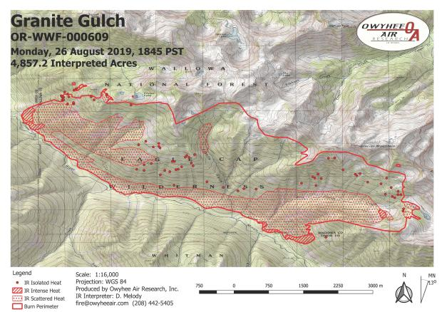 Infrared map of the fire created Aug. 27