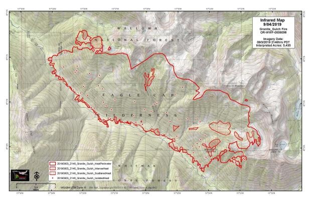 The Granite Gulch Fire has grown less than 250 acres since Aug. 29