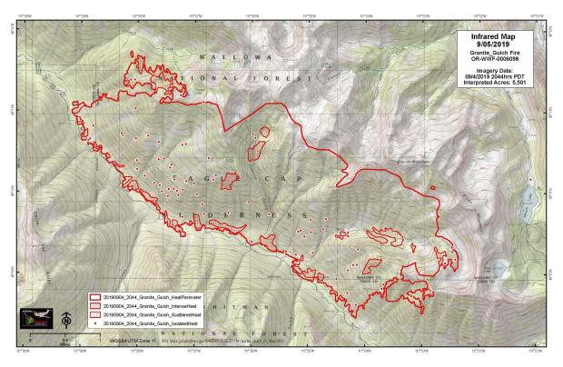 The fire spread about 65 acres in the last 24 hours, but incoming rains will minimize its spread going into the weekend
