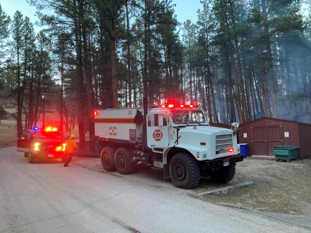 Hill City firefighters respond to a small flare-up