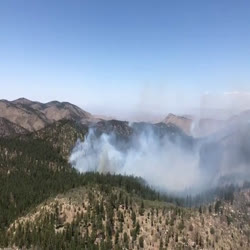 This video show aerial footage of the Dog Fire on 5.20.21