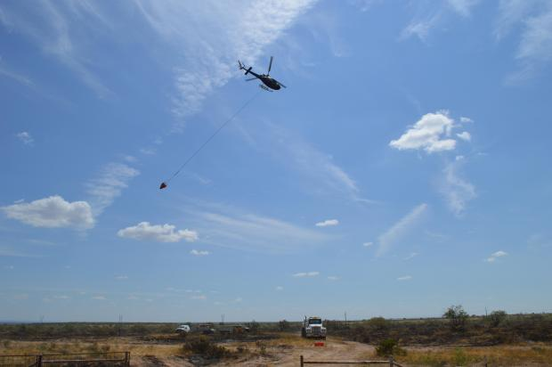 A helicopter assist with Bodine 1 Fire