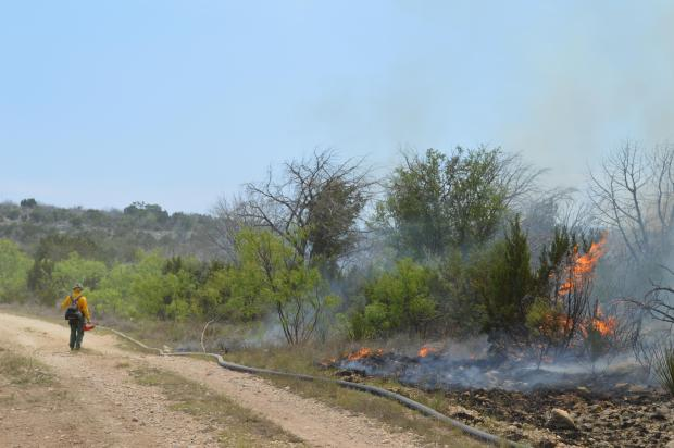 burn out on east side of fire.