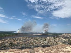Game Ranch Fire from a distance