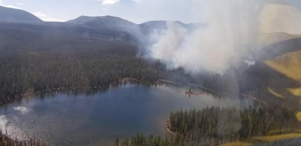 Shadow Lake Fire, October 8