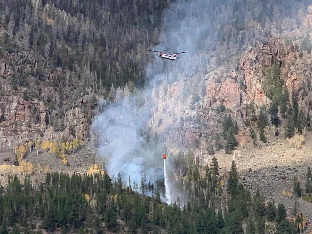 Helicopter drop north of Rock Creek