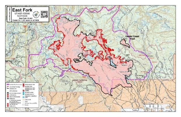 East Fork Fire PIO Map