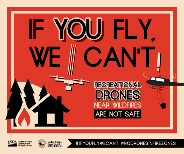 Drones-No Fly Zone near wildfires.