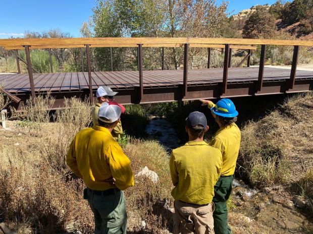 A photo taken by the Burned Area Response Team on the Pack Creek Fire.