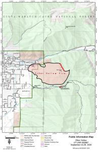 Ether Hollow Fire perimeter map Sept. 23, 2020