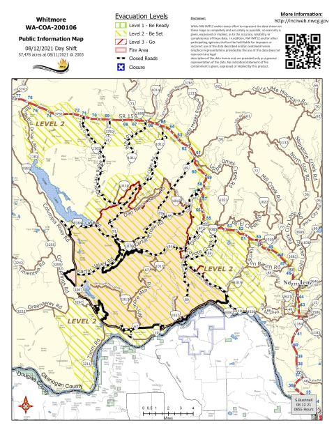Whitmore Fire Map 8.12.21