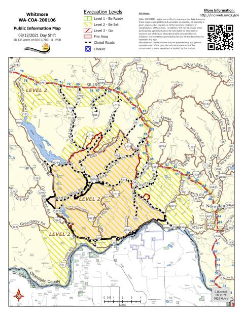 Whitmore Fire Map 8.13.21