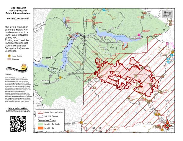 Big Hollow Fire Map September 18