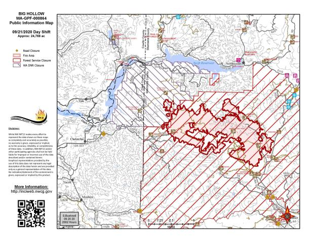 Big Hollow Fire Map September 21