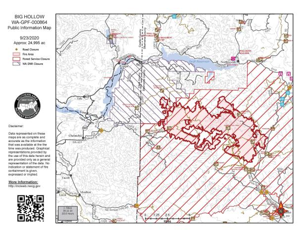 Big Hollow Fire Map September 23