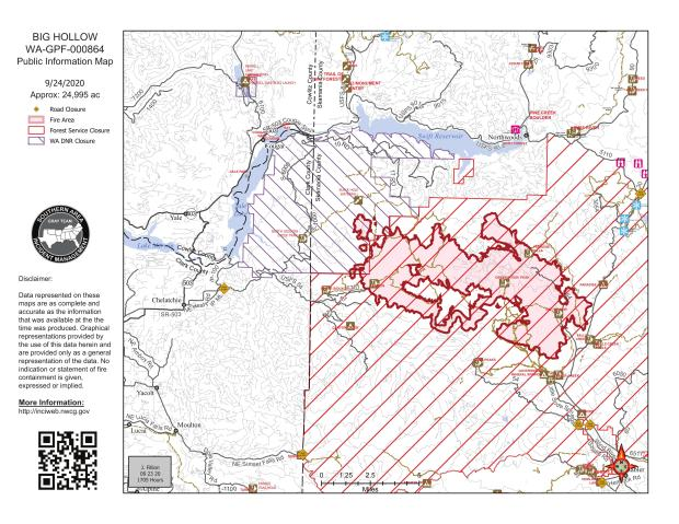 Big Hollow Fire Map September 24