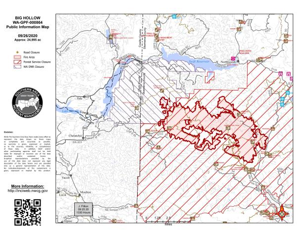 Big Hollow Fire Map September 26