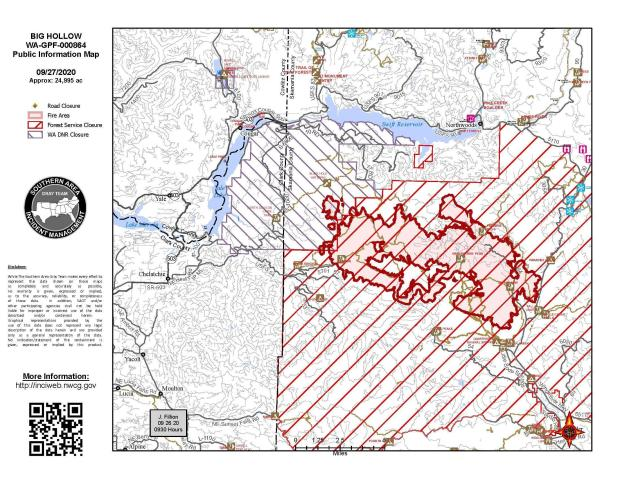 Big Hollow Fire Map September 27