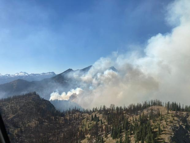 August 17 aerial photo of Chikamin Fire