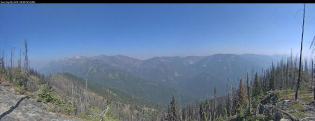 View of smoke from Chikamin Fire.