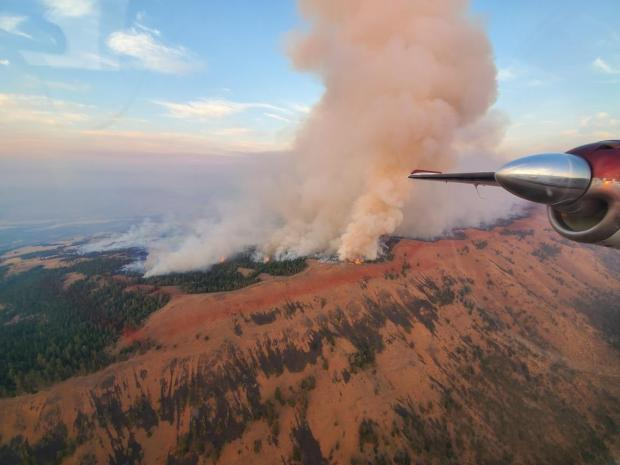 View from Air Attack Evans Canyon Fire September 3