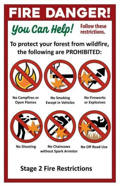 Stage II fire restrictions