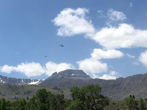 Lost Creek Fire, Two Type 1 helicopters, 14Jun2020